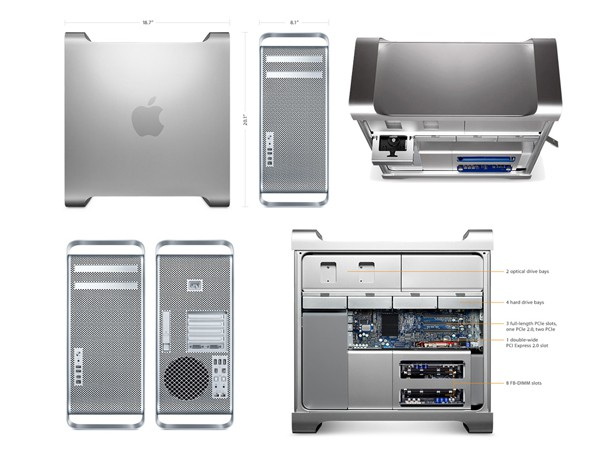 Купить -  Mac Pro One 3.2GHz Quad-Core Xeon/ 8GB/ Two 1TB/ Radeon HD 5770 1GB/ OS X Lion Server (MD772UA/A)