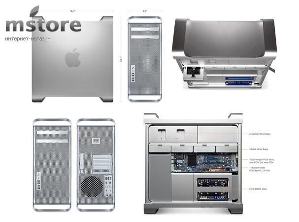 Купить -  Apple A1289 Mac Pro Two 2.4GHz 6-Core Xeon/ 12GB/ 1TB/ Radeon HD 5770 1GB/ SD (MD771)