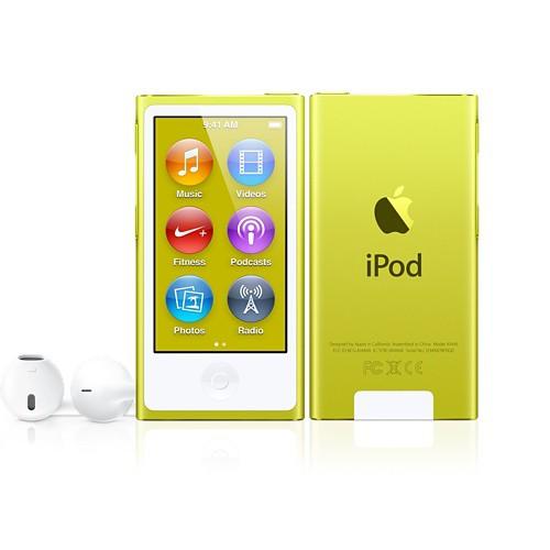 Купить -  Apple iPod nano 7Gen 16Gb Yellow (MD476)