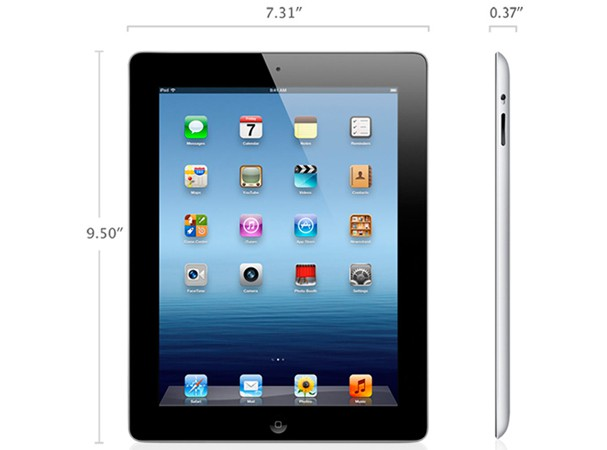 Купить -  	Apple iPad 3 Wi-Fi 16Gb black (MC705)