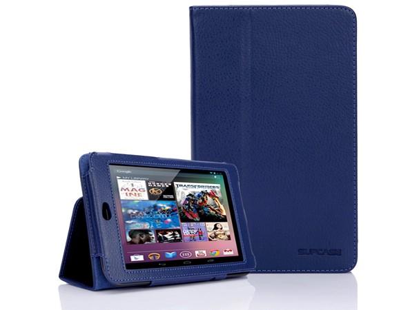 Купить -  SUPCASE Google Nexus 7 Tablet Slim Fit Leather Cas Deep Blue