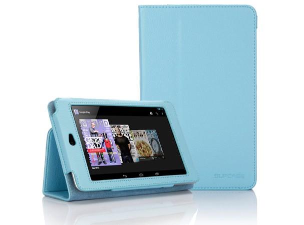 Купить -  SUPCASE Google Nexus 7 Tablet Slim Fit Leather Cas Light Blue