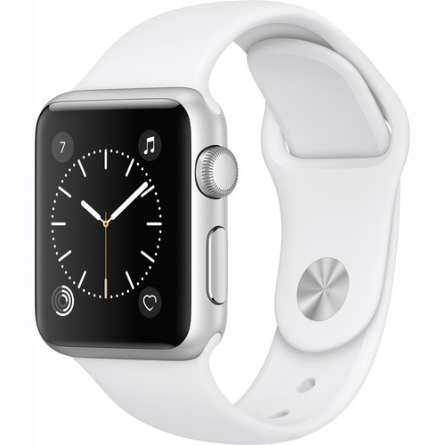 Купить - Apple Apple Watch Series 1, 38mm Silver Aluminium Case with White Sport Band (MNNG2)