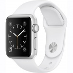 Фото - Apple Apple Watch Series 1, 38mm Silver Aluminium Case with White Sport Band (MNNG2)