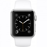 Фото Apple Apple Watch Series 1, 38mm Silver Aluminium Case with White Sport Band (MNNG2)