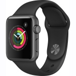 Фото - Apple Apple Watch Series 1, 38mm Space Grey Aluminium Case with Black Sport Band (MP022)