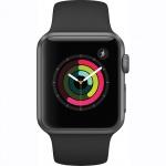Фото Apple Apple Watch Series 1, 38mm Space Grey Aluminium Case with Black Sport Band (MP022)