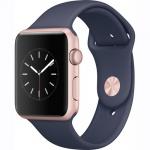 Фото - Apple Apple Watch Series 1, 42mm Rose Gold Aluminium Case with Midnight Blue Sport Band (MNNM2)