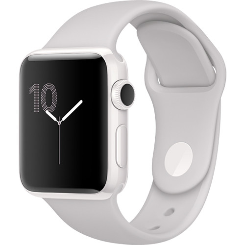 Купить - Apple Apple Watch Edition, 38mm White Ceramic Case with Cloud Sport Band (MNPF2)