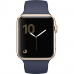 Фото Apple Apple Watch Series 1, 42mm Gold Aluminium Case with Midnight Blue Sport Band (MQ122)
