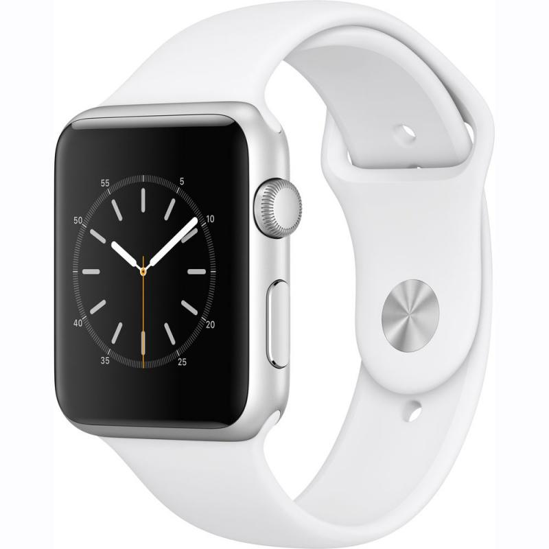 Купить - Apple Apple Watch Series 1, 42mm Silver Aluminium Case with White Sport Band (MNNL2)