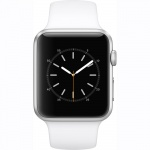 Фото Apple Apple Watch Series 1, 42mm Silver Aluminium Case with White Sport Band (MNNL2)