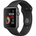 Фото - Apple Apple Watch Series 1, 42mm Space Grey Aluminium Case with Black Sport Band (MP032)
