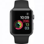 Фото Apple Apple Watch Series 1, 42mm Space Grey Aluminium Case with Black Sport Band (MP032)