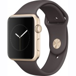 Фото - Apple Apple Watch Series 1, 42mm Gold Aluminium Case with Cocoa Sport Band (MNNN2)