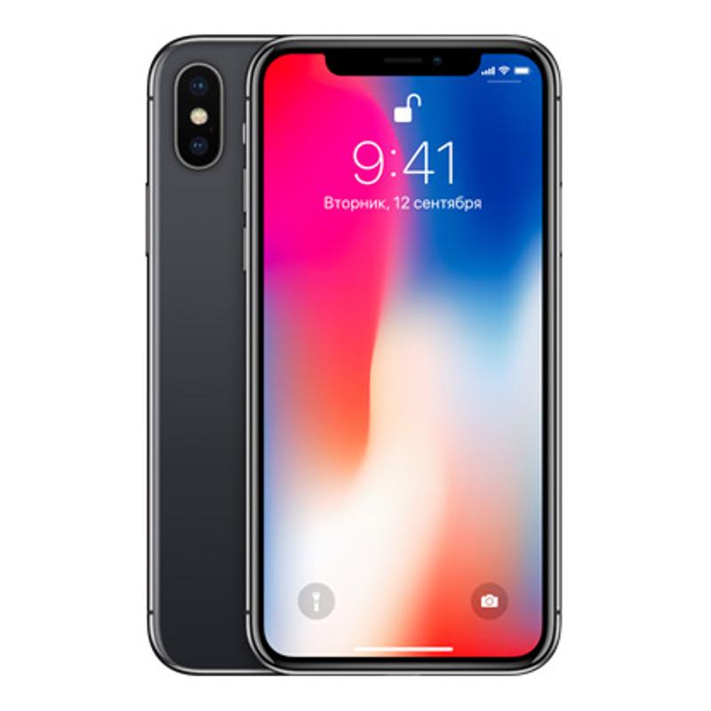 Купить - Apple IPhone X 256GB Space gray (MQAF2)