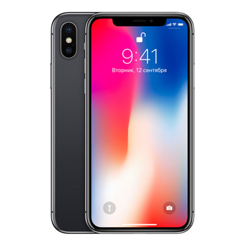Купить - Apple IPhone X 64GB Space gray (MQAC2)