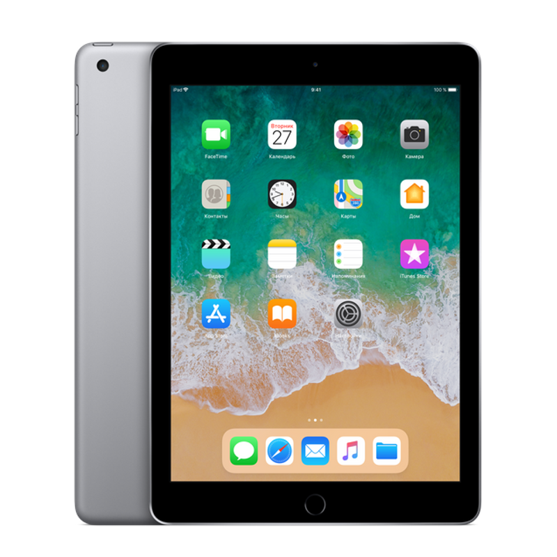 Купить - Apple iPad 2018 Wi-Fi 128GB Space Gray (MR7J2)