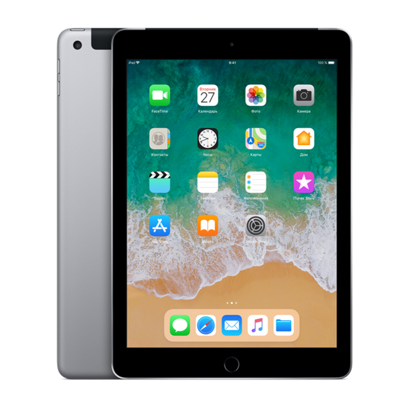 Купить - Apple iPad 2018 Wi-Fi + Cellular 128GB Space Gray (MR7J2)