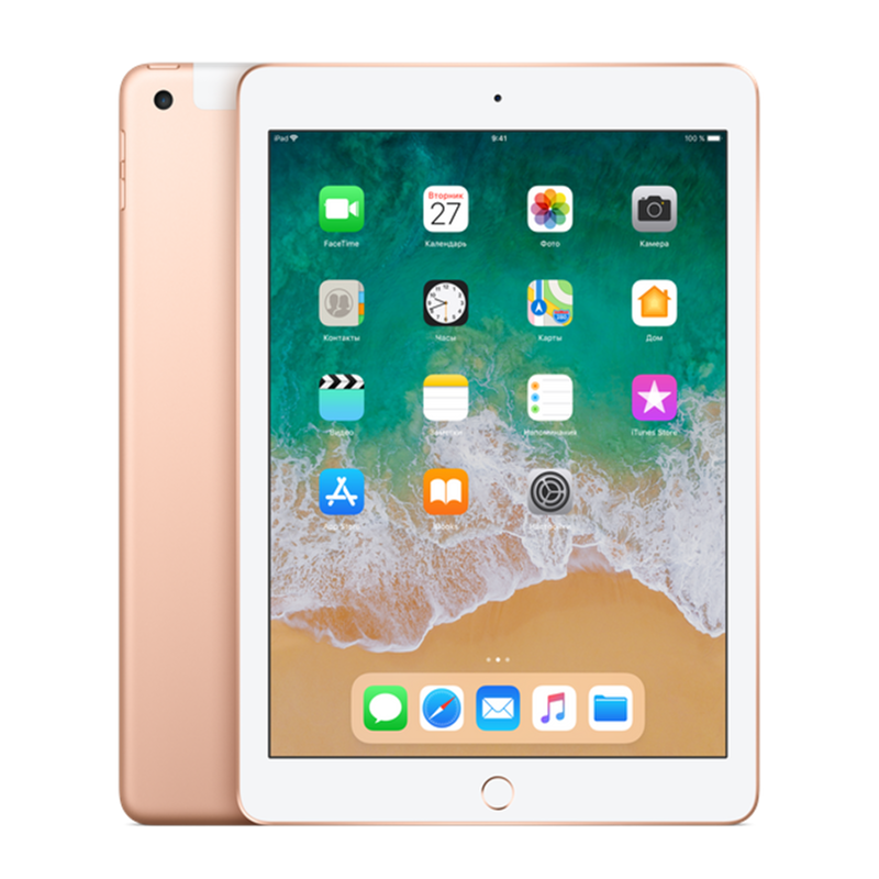 Купить - Apple iPad 2018 Wi-Fi + Cellular 128GB Gold (MRM82)
