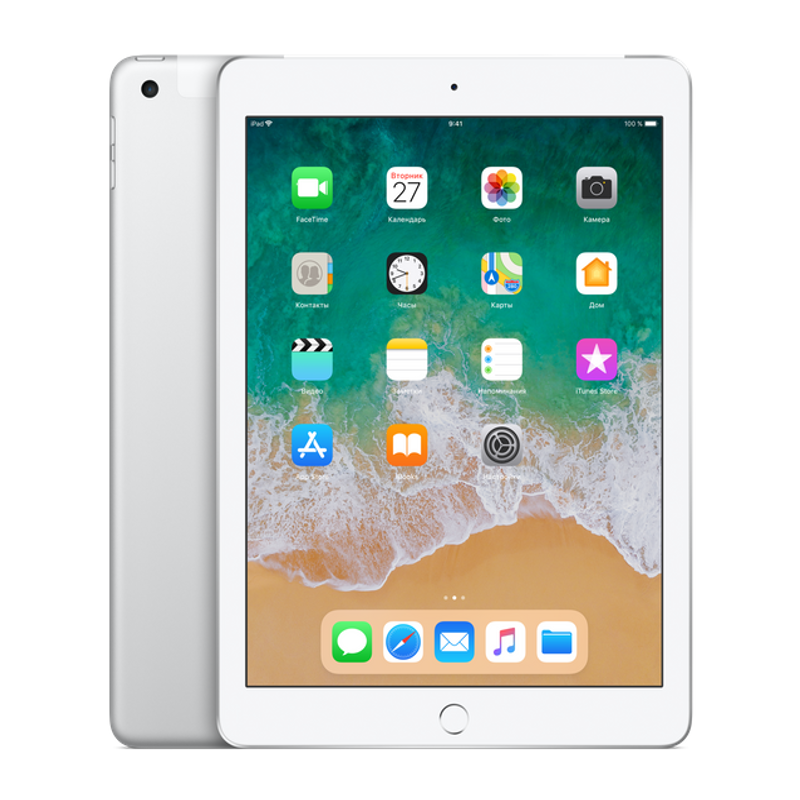 Купить - Apple iPad 2018 Wi-Fi + Cellular 128GB Silver (MR732)
