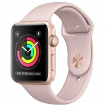 Фото - Apple Apple Watch Series 3 (GPS) 42mm Gold Aluminum Case with Pink Sand Sport Band (MQL22)