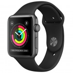 Фото - Apple Apple Watch Series 3 (GPS) 38mm Space Gray Aluminum Case with Black Sport Band (MQKV2)