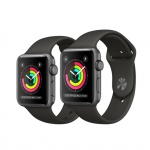 Фото Apple Apple Watch Series 3 (GPS) 42mm Space Gray Aluminum Case with Gray Sport Band (MR362)