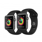 Фото Apple Apple Watch Series 3 (GPS) 42mm Space Gray Aluminum Case with Black Sport Band (MQL12)