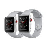Фото Apple Apple Watch Series 3 (GPS + Cellular) 42mm Silver Aluminum Case with Fog Sport Band (MQK12)