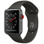 Фото - Apple Apple Watch Series 3 (GPS + Cellular) 42mm Space Gray Aluminum Case with Gray Sport Band (MR2X2)