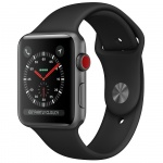 Фото - Apple Apple Watch Series 3 (GPS + Cellular) 42mm Space Gray Aluminum Case with Black Sport Band (MQK22)