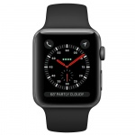 Фото Apple Apple Watch Series 3 (GPS + Cellular) 42mm Space Gray Aluminum Case with Black Sport Band (MQK22)