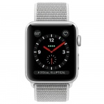 Фото Apple Apple Watch Series 3 (GPS + Cellular) 38mm Silver Aluminum Case with Seashell Sport Loop (MQJR2)