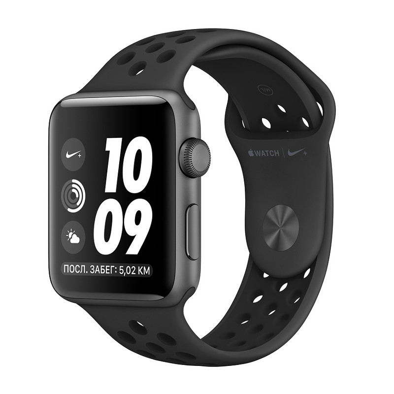 Купить - Apple Apple Watch Series 3 Nike+ (GPS) 42mm Space Gray Aluminum Case with Anthracite/Black Nike Sport Band (MQL42)