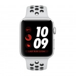 Фото Apple Apple Watch Series 3 Nike+ (GPS + Cellular) 42mm Silver Aluminum Case with Pure Platinum/Black Nike Sport Band (MQLC2)