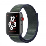 Фото - Apple Apple Watch Series 3 Nike+ (GPS + Cellular) 42mm Space Gray Aluminum Case with Midnight Fog Nike Sport Loop (MQLH2)