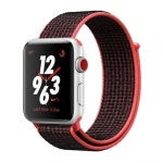 Фото - Apple Apple Watch Series 3 Nike+ (GPS + Cellular) 42mm Silver Aluminum Case with Bright Crimson/Black Nike Sport Loop (MQLE2)