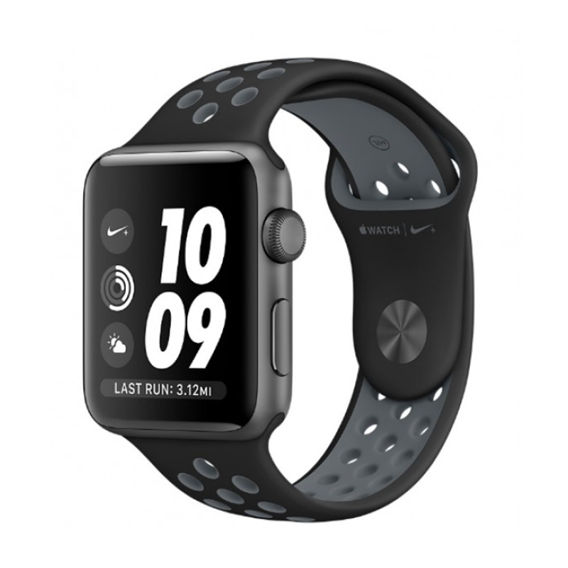 Купить - Apple Apple Watch Nike+ 42mm Space Gray Aluminum Case with Black/Cool Gray Nike Sport Band (MNYY2)
