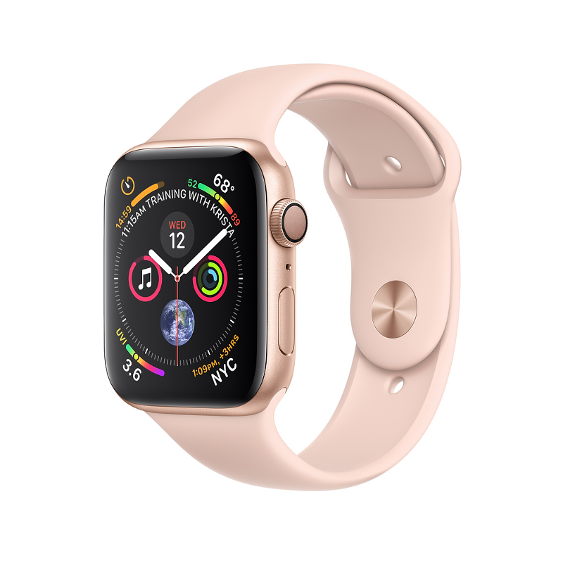 Купить - Apple Apple Watch Series 4 (GPS) 40mm Gold Aluminum Case with Pink Sand Sport Band (MU682)