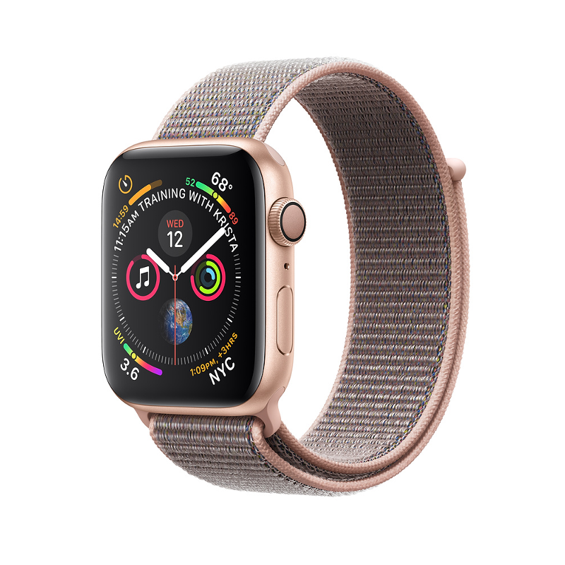 Купить - Apple Apple Watch Series 4 (GPS) 40mm Gold Aluminium Case with Pink Sand Sport Loop (MU692)