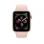Фото Apple Apple Watch Series 4 (GPS + Cellular) 40mm Gold Aluminum Case with Pink Sand Sport Band (MTUJ2/MTVG2)