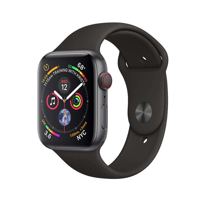Купить - Apple Apple Watch Series 4 (GPS + Cellular) 40mm Space Gray Aluminium Case with Black Sport Band (MTUG2)