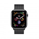 Фото Apple Apple Watch Series 4 (GPS + Cellular) 40mm Space Black Stainless Steel Case with Space Black Milanese Loop (MTUQ2)