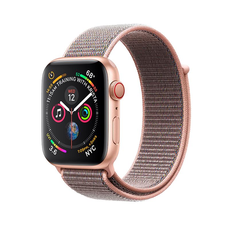 Купить - Apple Apple Watch Series 4 (GPS + Cellular) 40mm Gold Aluminium Case with Pink Sand Sport Loop
