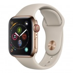 Фото - Apple Apple Watch Series 4 (GPS + Cellular) 40mm Gold Stainless Steel Case with Stone Sport Band