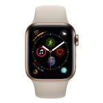 Фото Apple Apple Watch Series 4 (GPS + Cellular) 40mm Gold Stainless Steel Case with Stone Sport Band