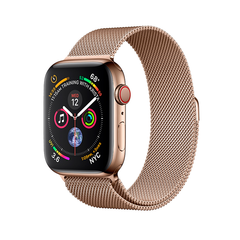 Купить - Apple Apple Watch Series 4 (GPS + Cellular) 40mmGold Stainless Steel Case with Gold Milanese Loop