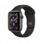 Фото - Apple Apple Watch Series 4 (GPS) 44mm Space Gray Aluminium Case with Black Sport Band  (MU6D2)