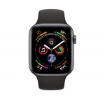 Фото Apple Apple Watch Series 4 (GPS) 44mm Space Gray Aluminium Case with Black Sport Band  (MU6D2)